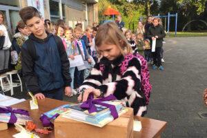 Leuke start Kinderboekenweek op het plein